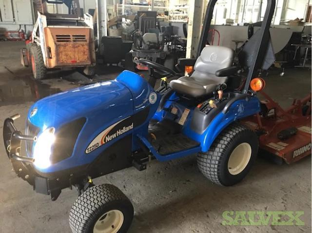 2007 New Holland TZ25DA Diesel Tractor & Rhino 540rpm PTO Bush Hog