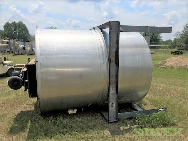 Stainless Steel Heavy Duty Vertical Mix Tanks W 10HP, 2000-Gallon  (2 Units)