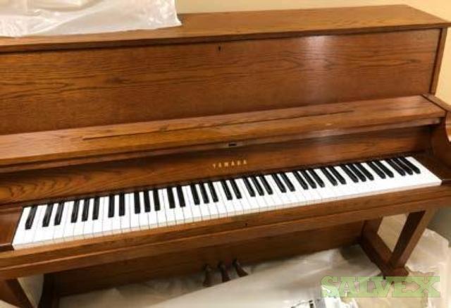 Musical Instruments: Yamaha Grand Piano Class X, Yamaha MO-8, Korg SV-1 88 key, Drum Set, Piano (15 Items)