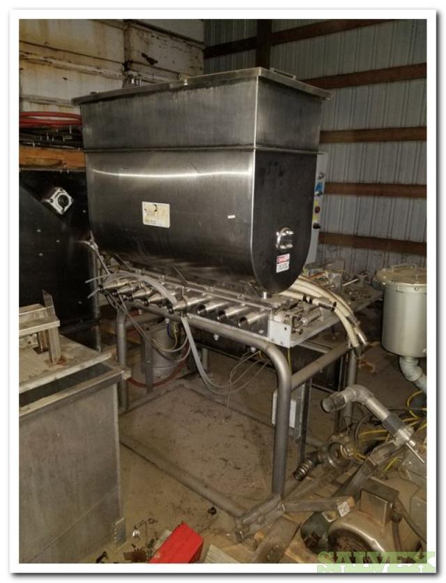 Hinds-Bock Piston Filler 8 Head Machine - Food Processing Equipment