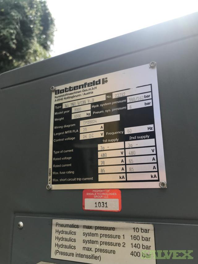 Battenfeld BA 750 V/125 H-C Plastic Injection Molding Machines (2 Units)