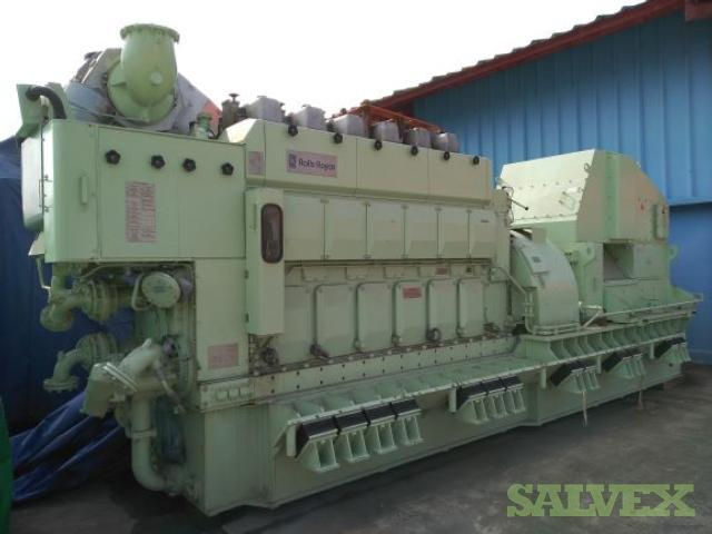 Rolls-Royce Main Engine with Generators and Exhaust Silencer (6 Units)
