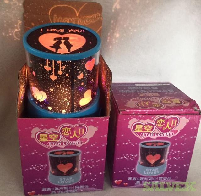Battery Operated Lamp Hearts and Stars, Assorted  Licensed Headphones and Folding Mini Speakers (2,100 Pieces)