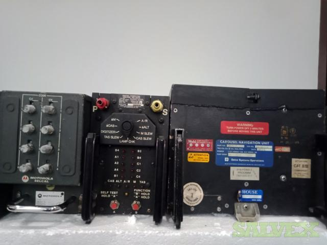 Boeing 747 Avionics: Tape Reproducer, Digital Computer, Window Heat Control etc. (6 Units)