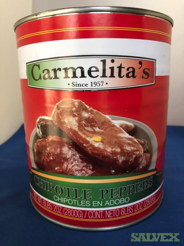 Carmelita's Peppers 6 #10 Foodservice Cans English/Spanish - 592 Cases