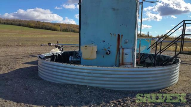 The 1 X 200 BBL white tank has no external coating outside but is internally coated (reference: 8-26-85-5W6)
