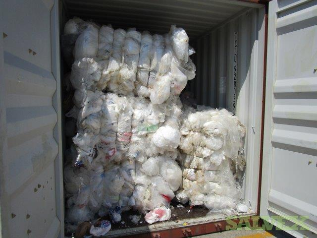 Plastic Recycling Materials (200,973 Kg / 80 Bales / 10 Container loads)
