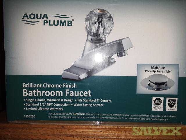 Aqua Plumb 1550210 4-Inch Single Handle Polished Chrome Lavatory Faucet - (500 Units)