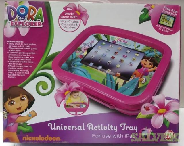 Dora the Explorer Activity Tray for iPads // Wii 3 in 1 Sports Pack for Wii Sports Resorts (31,001 Units)