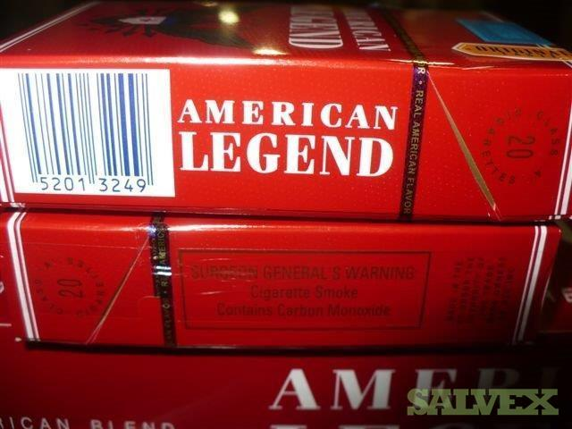 Cigarettes: American Legend, Capital Mentol & Capital Red (5,760 Cases) EXPORT ONLY