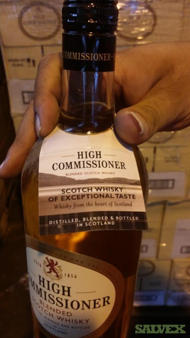Liqueur: Absolut, High Commissioner, Glen Scotia, Loch Lomond, JW, etc.