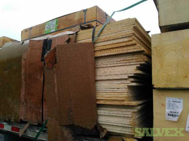 Mixed lot of Plywood  : FS Walnut, RC Birch, RC Maple Plywood, Baltic Birch etc.- Water Damaged (1356 Pcs) UPDATED