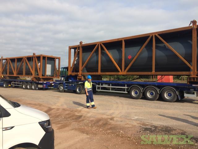 Fuel Proof Diesel Fuel Tanks 60,000 Litre - Offshore, Horizontal 110% Bunded Bulk (2 Units)