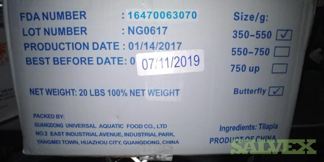 Whole Tilapia Butterfly 350-550 IWP - Clearance Lot