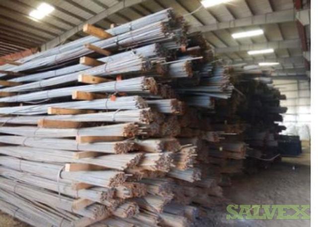 20 Ft Steel Rebar GR 40 and GR 60 (1,262 Bundles - 1260 MT)