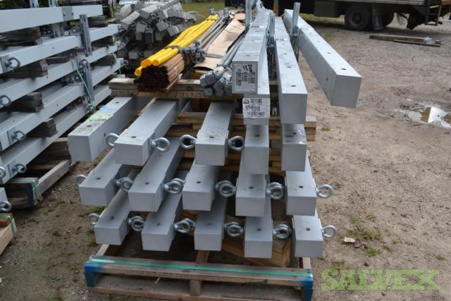 Fiberglass Utility Cross Arms 4', 8' and 10' and Miscellaneous Hardware 2 Flatbeds Full  - 525 Units