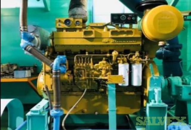 Komatsu Diesel Engine and Siyueh CH 200-56 Pump (2 Items)