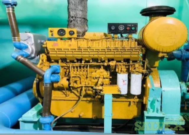 Komatsu SACD140B Diesel Engine and Torishima CDM 300x200 Pump (2 Items)