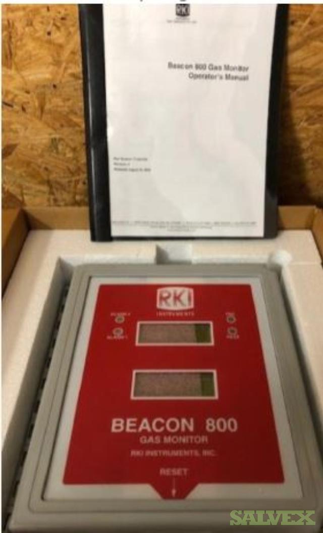 RKI Instruments Beacon Channel Gas Detector Monitors - Unused (2 Units)