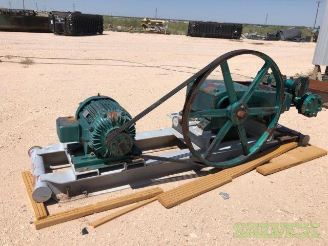 Ingersol Rand Triplex Pumps HS-3, 2 1/8 x 4, 50 GPM, 1600 PSI, 50hp, 460 Volt, 1170 RPM