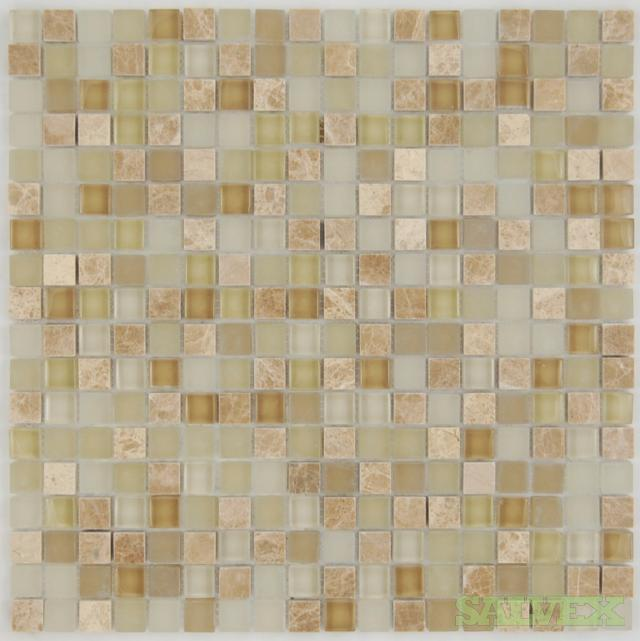 Ecru Mix 5/8 x 5/8 Mosaic Tile (1,800 Units)