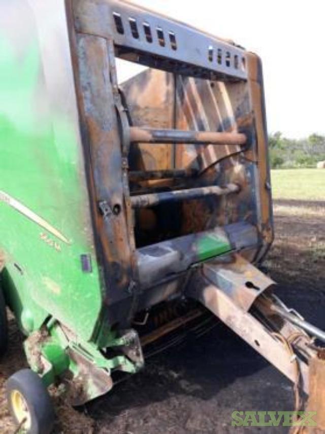 John Deere 560M Hay Baler 2019 and John Deere 7230 Tractor 2012- Damaged
