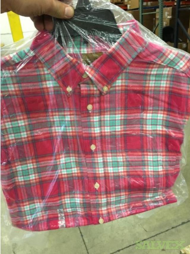 Men's Long and Short Sleeve Button Down Shirts: Polyester, Nylon, Tencel (7,176 Pcs) - Abandoned Shipment