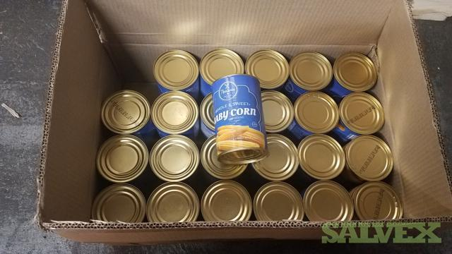 Canned Baby Corn Whole and Cut - 2,116 Cases