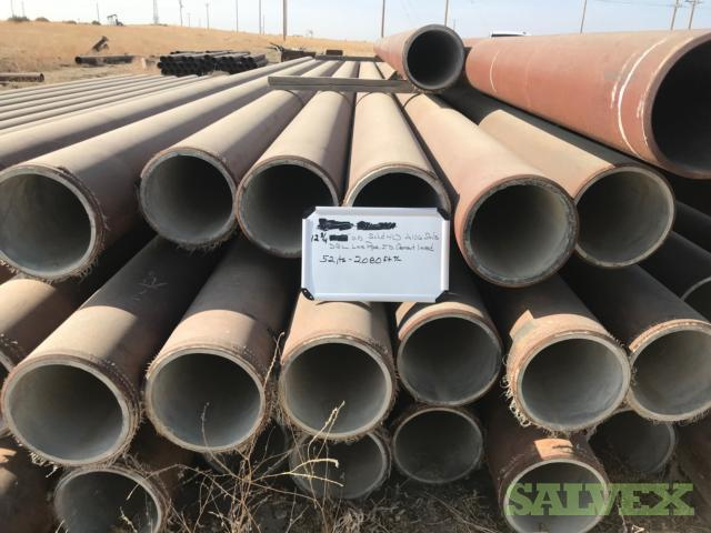 12 .375WT SMLS Surplus Line Pipe (2,080 Feet / 46.76 Metric Tons)