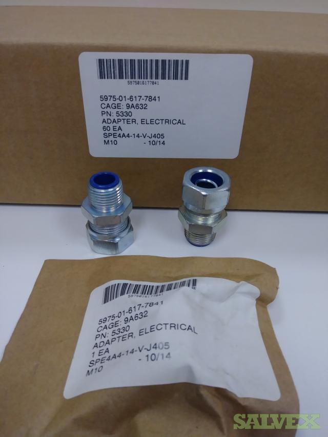 Thomas & Betts 5330 Straight Insulated Liquidtight Connector; 5/16 Inch, Steel, Electro-Plated Zinc/Chromate Coated, Tapered Threaded (6,000 Units)