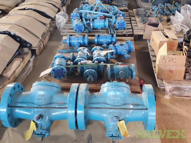 Ball Valves, Gate Valves - Swing/Wafer Check Valves and More (106 Pieces)