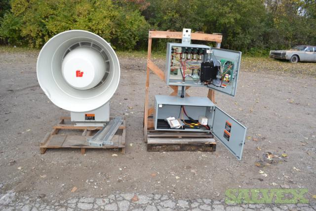 Federal 2001srn Air Raid Siren Federal Signal Battery and Remote Operated