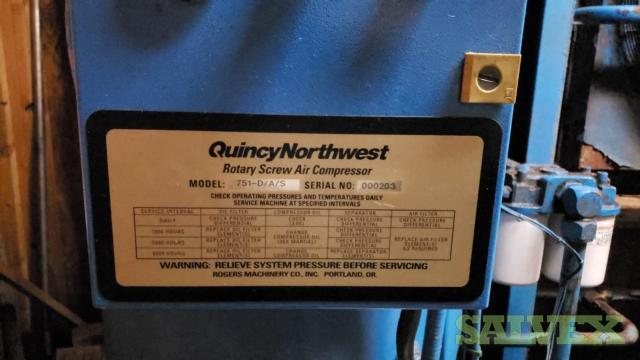 Quincy Rotary Screw Air Compressor Model 751-D/A/S