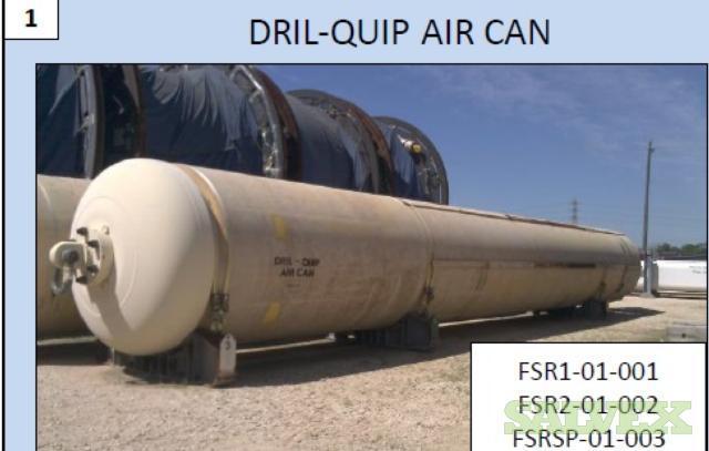 Dril Quip Air Cans 180,000 Lbs - 3 Units