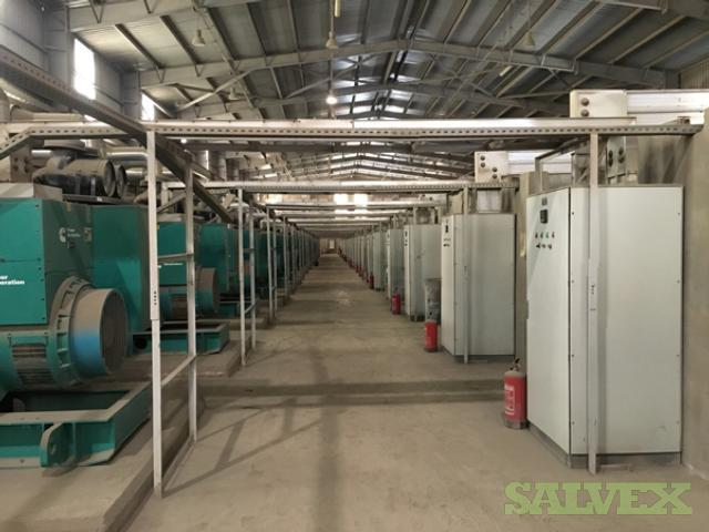 Complete 50MW Power Plant: Engines, Gensets, Transformers, Alternators, Fuel Tanks and Panels