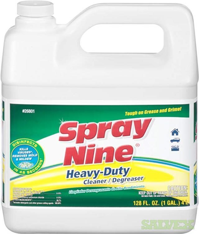 Spray Nine Heavy-Duty Cleaner/Degreaser Jugs 1  Gal and Pails of 5 Gal - 26 Units