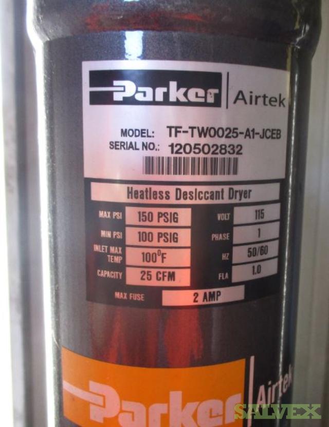 Parker Airtek Heatless Desiccant Dryer TF-TW0025-A1-JCEB (2 Units)