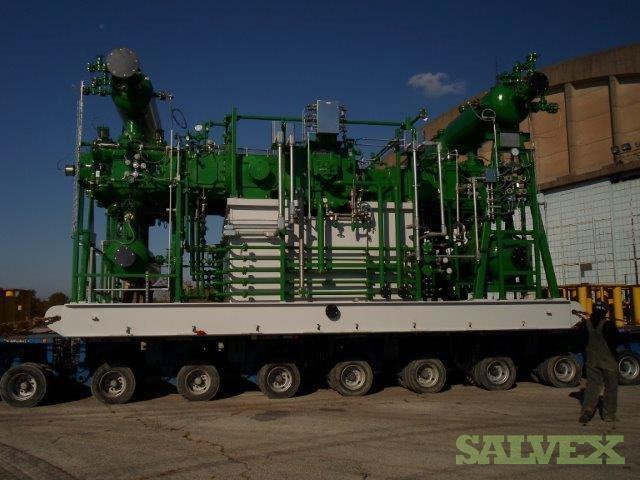 Reciprocating Hydrogen Compressor Dresser Rand Model 4HHE-VL-3 4throw 3 Stage (Skid/Package)