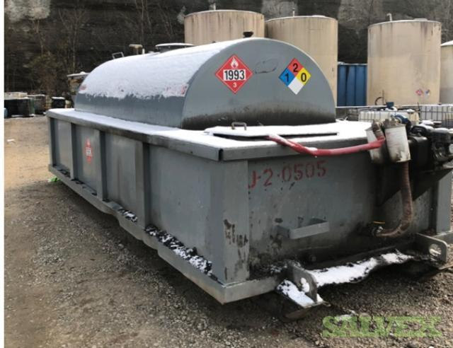 Single Wall Tank with Secondary Containment and Rain Shield 2000 Gal