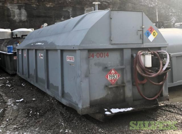 Single Wall Tank with Secondary Containment and Rain Shield 4,000 Gal