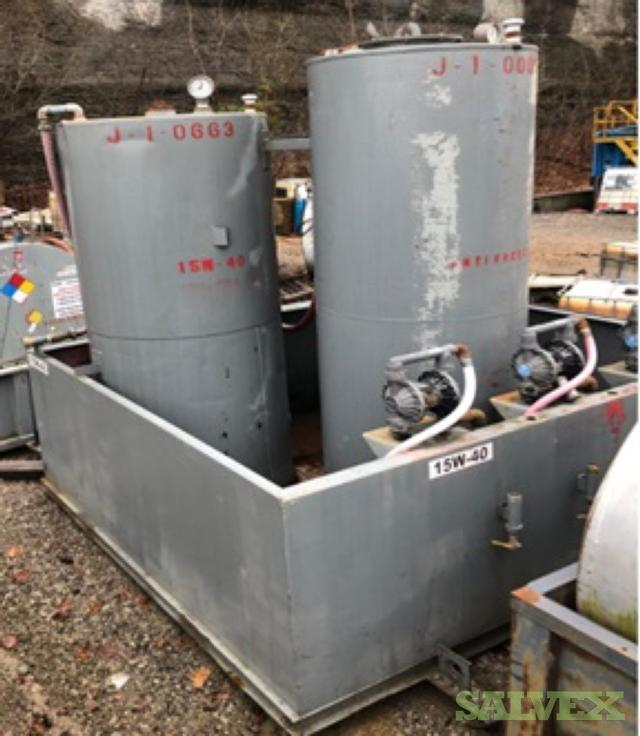 Single Wall Tank with Secondary Containment  1,000 & 900 Gal -3 Units