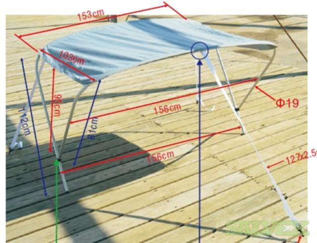 Sundolpin Cover for Boat Canopy: Bow Canopy Assembly, Canopy Tarp & Mooring Covers (9855 Pieces)