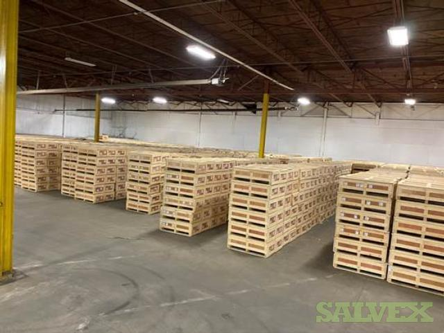 Shipping Crates: 22x48x15.5H Heavy Duty Padded Industrial Wooden  - Used to Ship Lithium Ion Battery Packs, Includes Lids (2,500 Units)