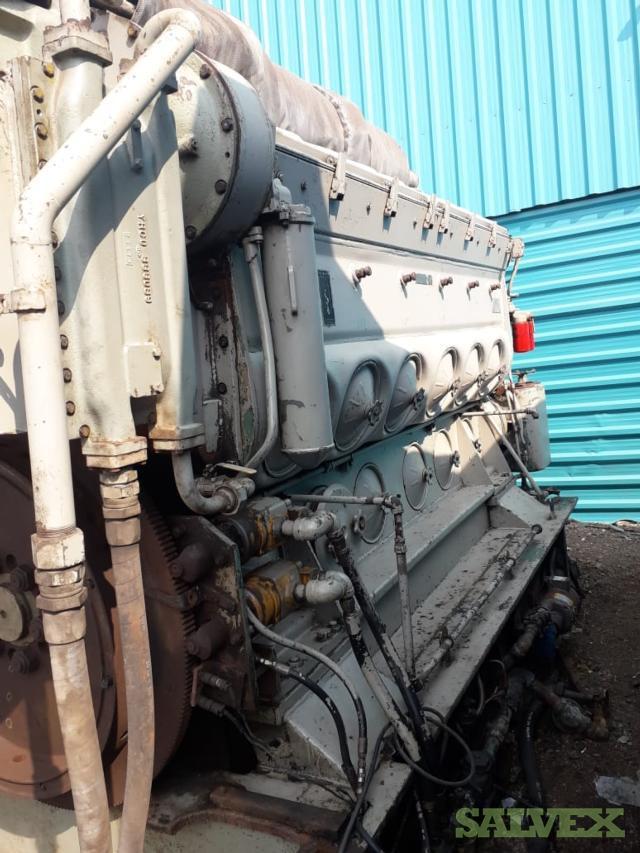 EMD 12 645 E8 Turbocharged Engine