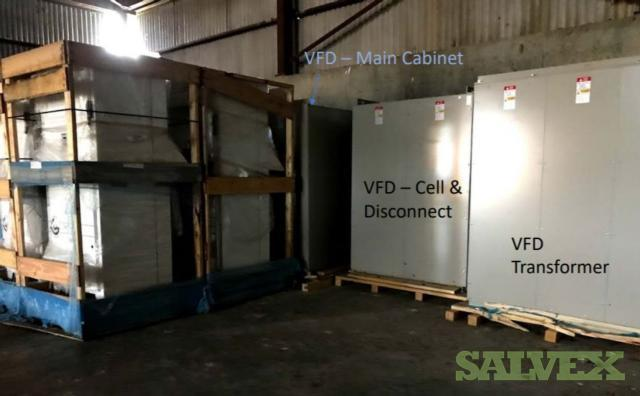 Yaskawa 2500 HP Medium Voltage VFD w/Ethernet Option, Spare Parts and Lifter-Power Cell