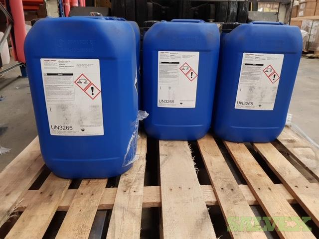 Surplus Chemicals: DeCAL 1106 Thickener, DeCAL 1283 Surfacant, Bodoxin Biocide, Maleic Acid & Wellchem Phosflam IPPP50 Fire Retardant (19,945 Kgs)