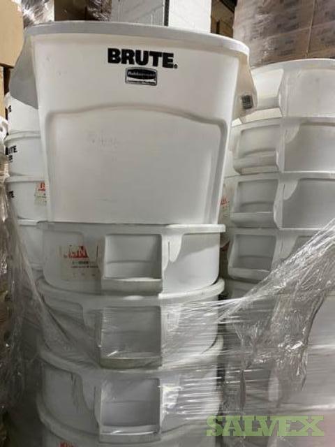 Brute Rubbermaid 20-Gallon White Trash Cans (150 Units)