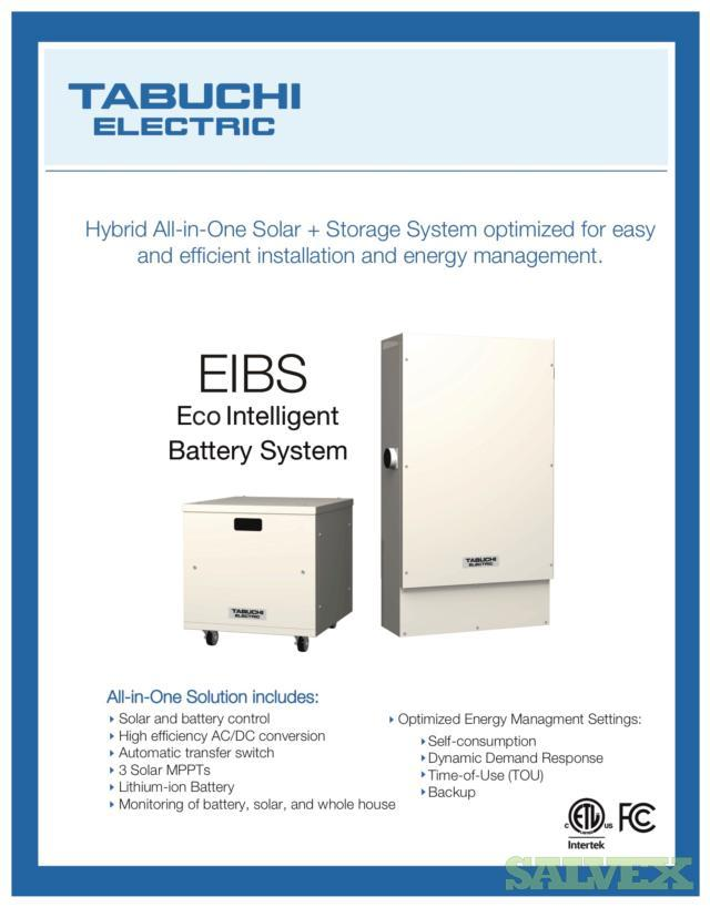 Tabuchi Electric (Panasonic) Hybrid Solar Inverter & 10kw Lithium Battery System