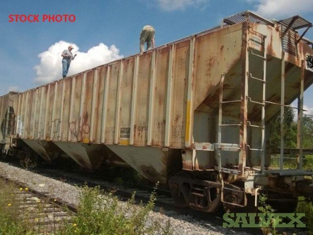 Railcars : Flat Bulkheads and Covered Hoppers (Re-use or Scrap) - (18 Units) in AB, CANADA