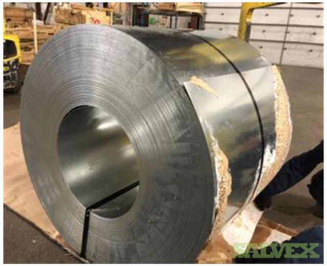 Hot Dipped Galvanized Steel Coils - 78.901 Lbs/ 35,8 Tons in Ontario & Quebec (2 Locations) Canada